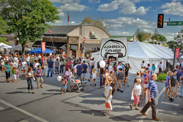 The Kennett Square Mushroom Festival is a major draw for families.