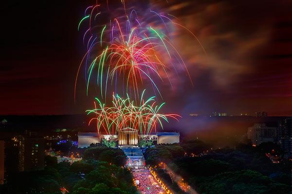Fireworks celebrations in Philadelphia
